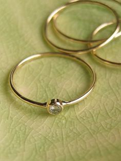 Rings are going from crazy big to small and cute. I like this trend.