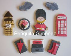 London cookies decorated