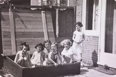 """Anne Frank Fonds/Anne Frank House via Getty Images  Left to right: Hanneli Goslar (a.k.a., """"Lies Goosens"""" in early editions of the Diary), Anne Frank, Dolly Citroen, Hannah Toby, Barbara Ledermann and Susanne Ledermann (standing), Amsterdam, 1937  Read more: http://life.time.com/history/anne-frank-photos-of-her-friends-by-paul-schutzer/#ixzz2DVL538Tv"""