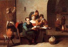 Die Kartenspieler by Matheus van Helmont
