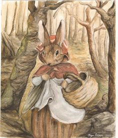 I feel I may have met this Little Red Riding Rabbit in the wood. Beatrix Potter certainly did. . .