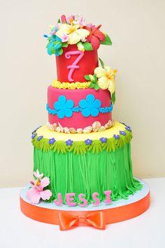 Very cute Hawaiian birthday cake