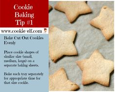 The Elf's Cookie Baking Tip #1. More great cookie baking tips: http://www.cookie-elf.com/baking-cookies-tips.html