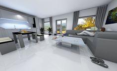 dizajnová biela dlažba, ktorá rozšíri každý priestor