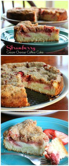 Strawberry Cream Cheese Coffee Cake via /https/://www.pinterest.com/BaknChocolaTess/