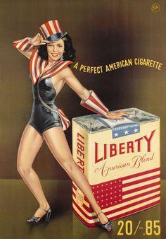 Liberty Pin-Up Girl American Cigarette 1947 - Ann Miller