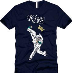 Felix Hernandez, King Felix, Seattle Mariners baseball. $20.00, via Etsy.