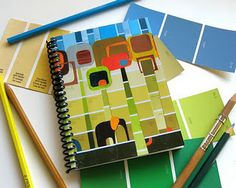 Paint chip notebook
