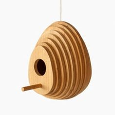 A well-rounded tree house. Tree Ring Birdhouse, designed by Jarrod Lim for Hinika.
