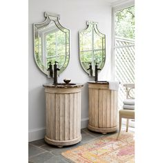 COLUMN PEDESTAL SINK CHEST - Ambella Home  #Bathroom #Vanity #Storage #Furniture #Ideas