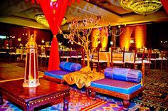Great seating area for guests to take a break from dancing!