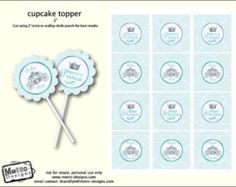 Little Prince Baby Shower - Tags/Toppers