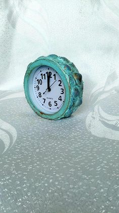 Mermaid Clock Beach Clock Coastal Clock Beach Alarm Clock Alarm Clock, Beach House, Coastal, Mermaid, Unique Jewelry, House Styles, Handmade Gifts, Etsy, Vintage