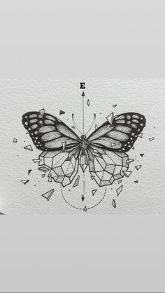 Beautiful Drawings, Cute Drawings, Grace Tattoos, Tattoos For Women Flowers, Diamond Drawing, Butterfly Tattoo Designs, Memorial Tattoos, Nature Animals, Cute Tattoos