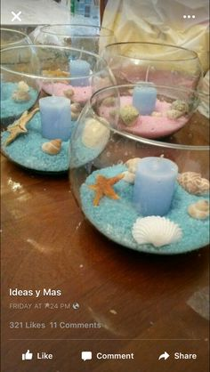 Under the sea theme center pieces