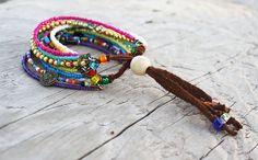 Color Chic Bead Bracelet by AvalynSkyDesign on Etsy
