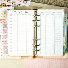 WEEKLY SCHEDULE Personal Size Filofax PDF by EasyLifePlanners #plannerinspiration #plannercommunity #plannerpages #personalfilofax #personalsize #filofax #filofaxinserts #kikkikaddict