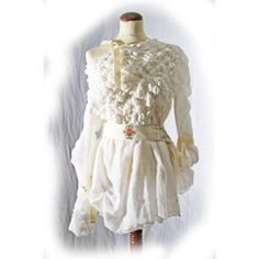 White smocked cotton Top Indie Couture  country by lummedesigns, €245.00
