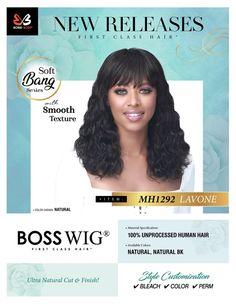 Coming Soon (10/20/20) Bobbi Boss Hair, Soft Bangs, Bleach Color, 100 Human Hair Wigs, Remy Hair Extensions, Perm, Color Show, The 100, Braids