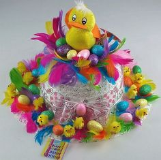 Over-the-top Easter bonnet Easter Bunny, Easter Eggs, Easter Bonnets, Easter Hat Parade, Easter Crafts For Kids, Easter Stuff, Easter Ideas, Kid Crafts, Crazy Hats
