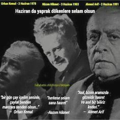 orhan kemal_nazım hikmet_ahmed arif