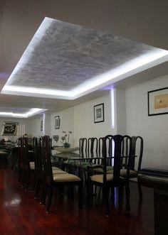 Recuadro con luz en tablaroca deco estilo deco estilo - Luz indirecta ...