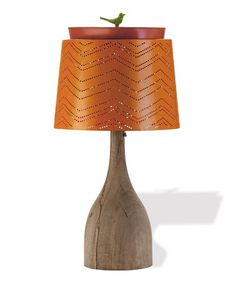 Take a look at this Orange Chevron Punchcard Lamp by Foreside on #zulily today! LOVE!