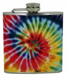 Island Dogs Tie Dye Flask by Island Dogs. $12.09. Holds 6-ounce. Stainless steel. Fabric covered flask. The 60's stay alive. The perfect accessory for a concert or festival.  Stainless steel and hold 6-ounce of liquid.. Save 19% Off!