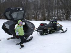 pull behind snowmobile sleds | Cori, def. a must for next winter...I'm thinking I want to ride in it ..lol