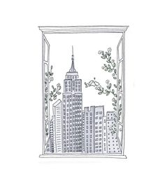 Who doesn't love a New York view--especially one of the Empire State building? No matter where you are in the world, you can look out on the city that never sleeps. Whether you're homesick for NYC or just want a city view, this open window skyline decal is neutral enough to fit into any home, apartment, or dorm--and can be a nice escape for when you need a mental break. Open Window, Window Wall, Nyc Skyline, Paper News, Paris Theme, City That Never Sleeps, Traditional Wallpaper, Paper Frames, Room Wallpaper