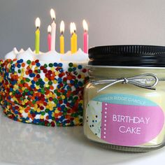 Birthday Cake Birthday Candle Food Candles Soy Candle