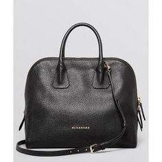 25% off Burberry - Satchel Medium London Greenwood Bowling Grainy Leather Black - $937.50 #burberry #satchel #bowling