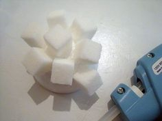 These sugar cube igloos are a fun and interactive Canadian craft for teaching kids about the history of the Inuit people. They also make wonderfully unique Canadian party decorations! Canadian Party, Igloo Craft, Inuit People, Sugar Cubes, Canada Day, Teaching Kids, Unique, How To Make, Crafts