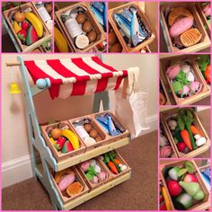 If I had more money and space - would LOVE to get all wooden play kitchen stuff (click picture for more)