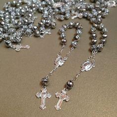 We've got mini rosaries! #Baptism #communion #confirmation #invitations