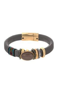"""Bracelet """"Agnes"""" gris de Sweet Deluxe : Les bracelets se la jouent fantaisie ! - Journal des Femmes Mode"""