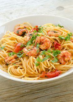 reker og pasta stor
