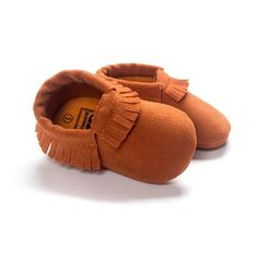 24402b9efb7 PU Suede Leather Newborn Baby Boy Girl Baby Moccasins Soft Moccs Shoes Bebe  Fringe Soft Soled Non-slip Footwear Crib Shoes