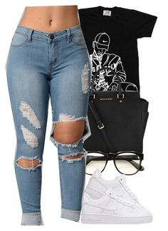 """""""Untitled #277"""" by christianna-futrell ❤ liked on Polyvore featuring Michael Kors, Wildfox and NIKE"""