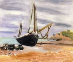 Henri Matisse 1869-1964 Boats at Etretat 1920 38x46cm oil on canvas Private Collection