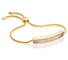 Baja Chain Bracelet in 18ct Gold Plated Vermeil on Sterling Silver with Grey Agate