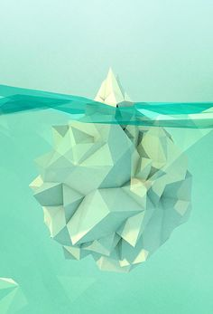 Not just the tip of the iceberg- paperfolding.