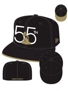55th GRAMMYs Oversize Logo Hat - Black