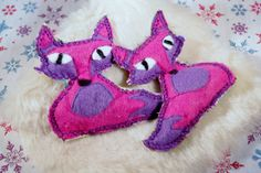 Pocket hand warmers Pink Fox Felted Wool and cotton by MKTdesign, $14.50