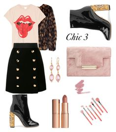"""""""Chic 3"""" by bmackler on Polyvore featuring Dolce&Gabbana, Carelle, Bdellium Tools, Dries Van Noten, MadeWorn and Charlotte Tilbury"""
