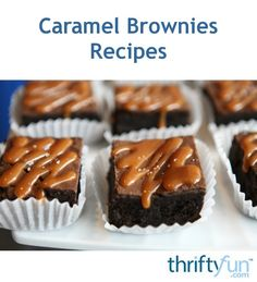 You can make even more yummy brownies by adding caramel to your recipe. Add pecans for a turtle brownie treat. This page contains caramel brownies recipes.
