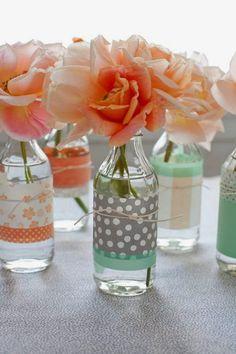 DIY Decorated Vases