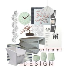 Origami Design by ditzglitz on Polyvore featuring interior, interiors, interior design, home, home decor, interior decorating, Heal's, Vondom, Finell and Mr Perswall