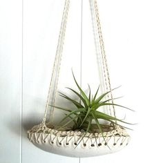 Spotted on @remodelista: the crochet-trimmed Cloud Planter from Etsy seller myveryowneyegoggles. #etsyfinds
