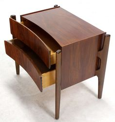 Exposed Frame, Swedish Mid-Century Modern End Table or Nightstand | From a unique collection of antique and modern night stands at http://www.1stdibs.com/furniture/tables/night-stands/